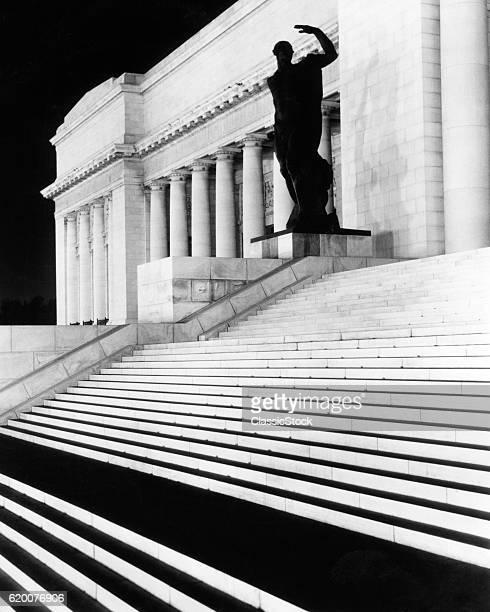 1930s 1940s NIGHT SCENE...