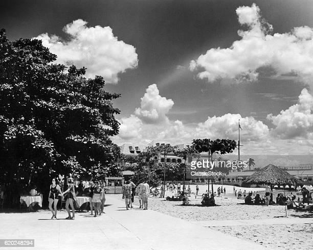 1930s 1940s LA PLAYA BEACH HAVANA CUBA