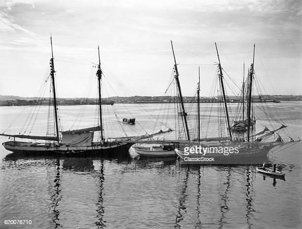 1930s 1940s SAILING SHIPS...