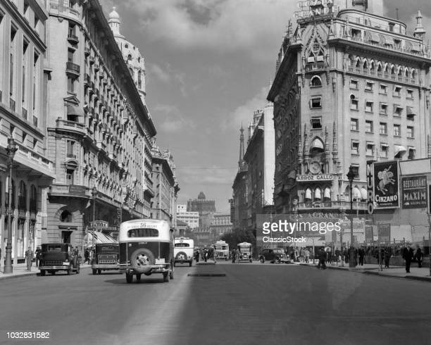 1930s 1940s THE DIAGONAL NORTE OR THE AVENIDA ROQUE SAENZ PENA BUENOS AIRES ARGENTINA