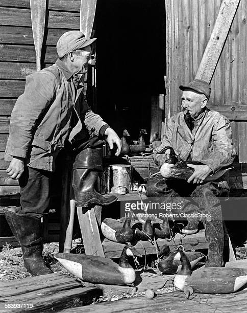 1930s 1940s TWO SENIOR MEN...