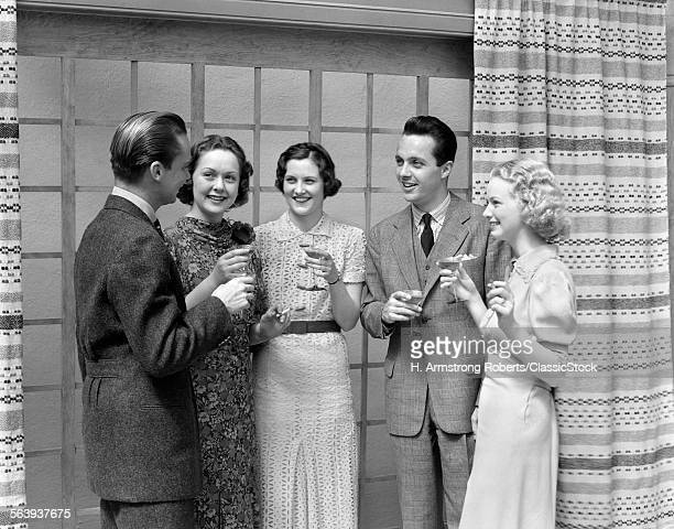 1930s 2 MEN 3 WOMEN...