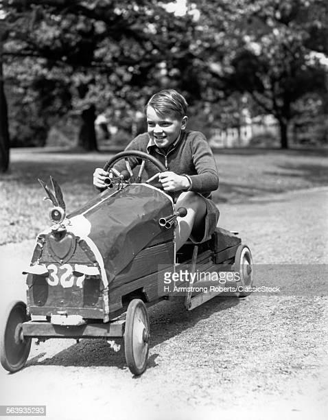 1930s BOY DRIVING HOME...