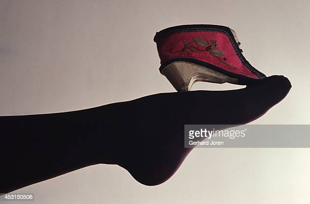 A 1930s Chinese shoe made for women with bound feet