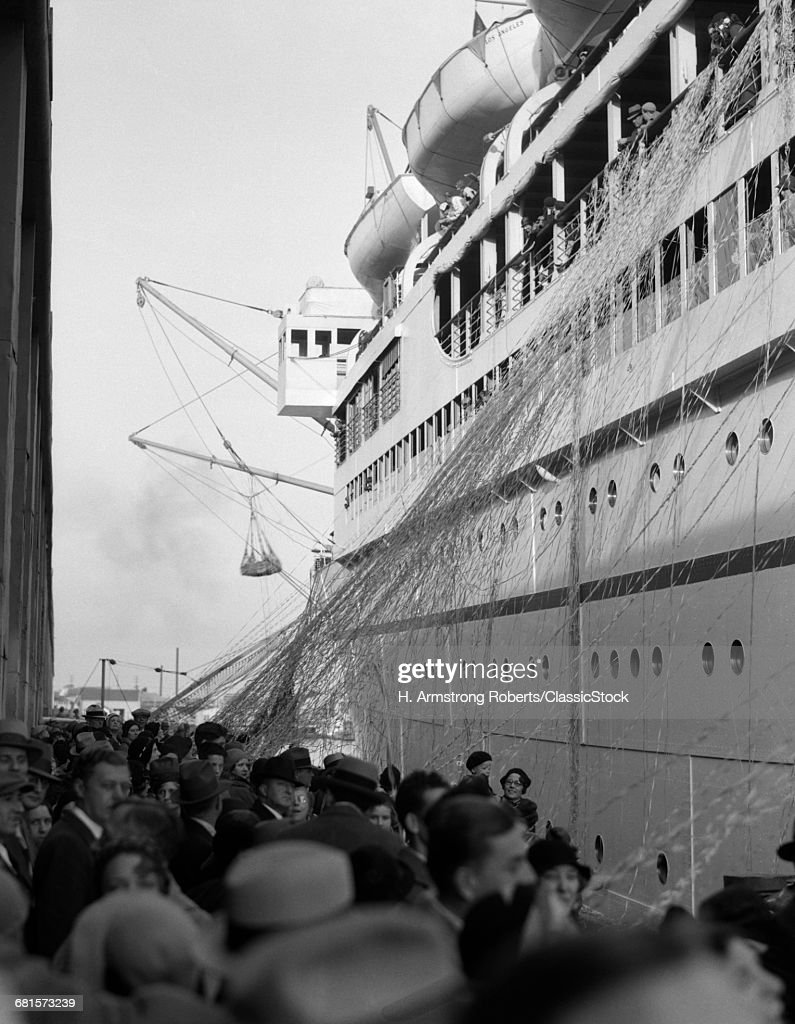 S Crowd Of People On Stock Photo Getty Images - 1930s cruise ships