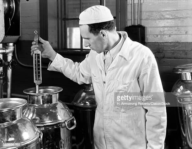 1930s DAIRYMAN TESTING...