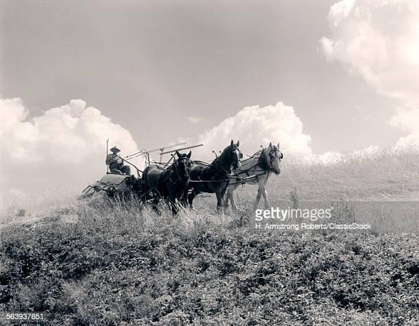 1930s FARMER IN OVERALLS &...