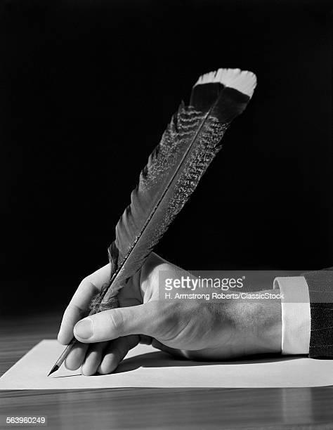 1930s MALE HAND WRITING...