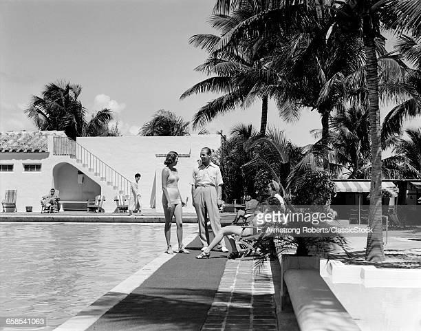 1930s MAN AND THREE WOMEN...