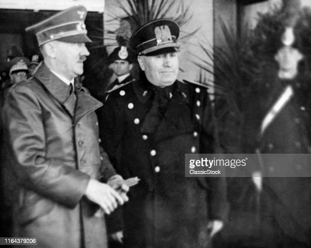 1930s May 1939 Adolf Hitler And Benito Mussolini During Hitler'S Visit To Italy