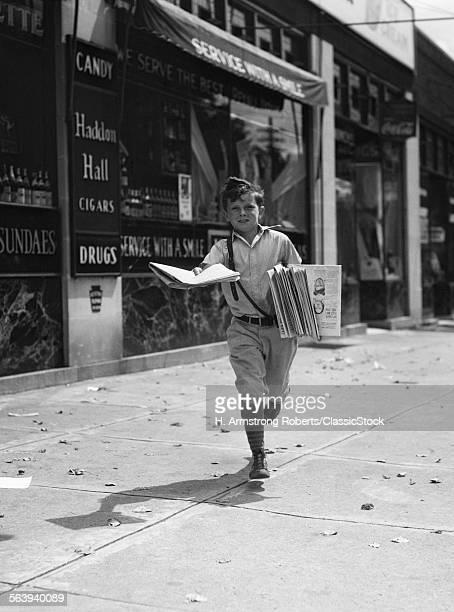 1930s NEWSPAPER BOY IN...