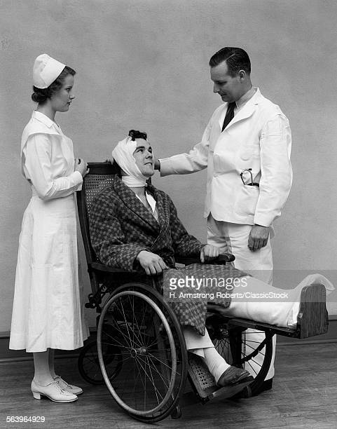 1930s NURSE DOCTOR AND MAN...