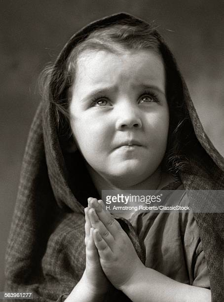 1930s POOR SAD LITTLE GIRL...