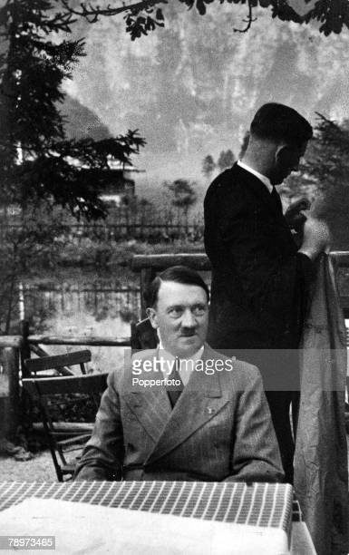 1930s St Bartholomae Konigsee A picture of German leader and Nazi dictator Adolf Hitler while on holiday