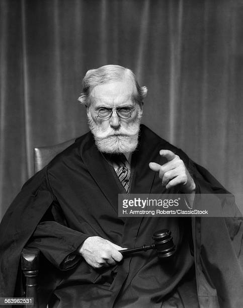 1930s STERN ELDERLY JUDGE...