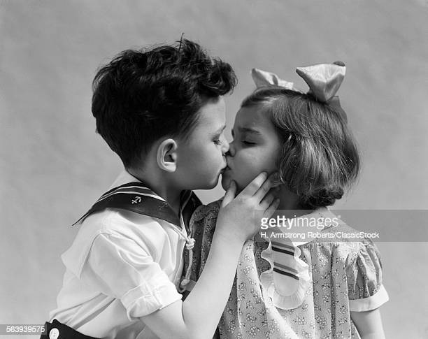 1930s TWO CHILDREN YOUNG...