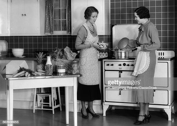 1930s WOMAN HOUSEWIFE AND...