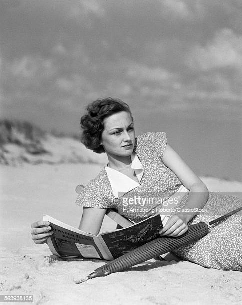 1930s WOMAN LEANING IN...