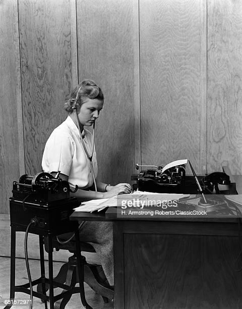 1930s WOMAN SECRETARY AT...
