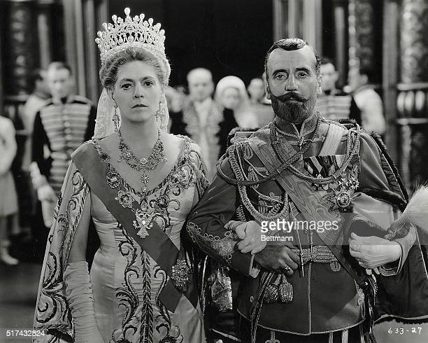 1932Ethel Barrymore and Ralph Morgan are shown as the Czarina and the Czar in this still from the movie Rasputin and the Empress Movie released in...