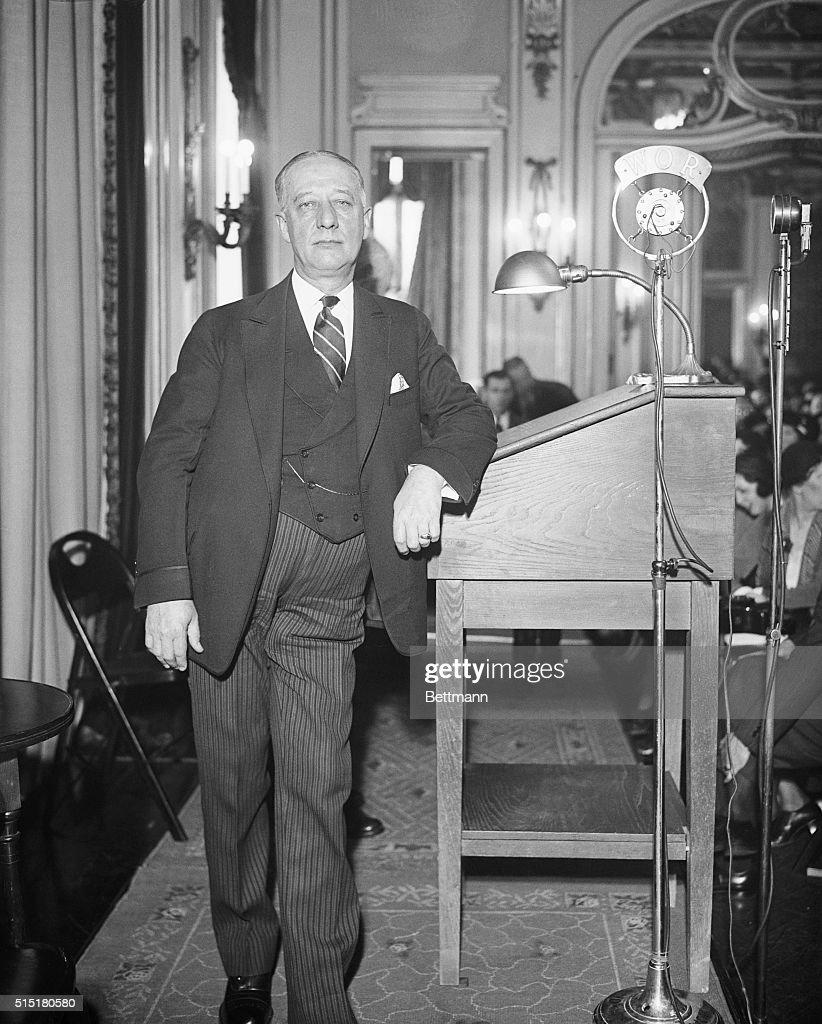 Governor Alfred E Smith Standing Alone News Photo