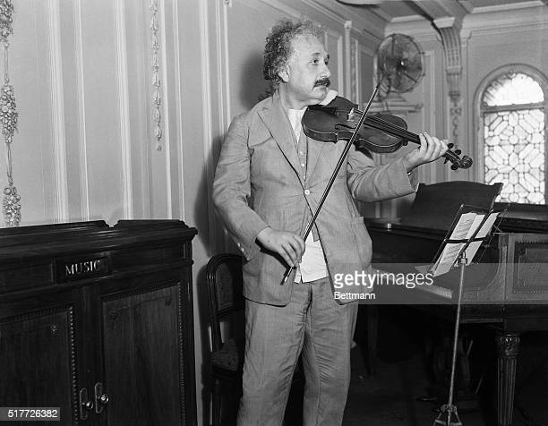 1932Professor Albert Einstein playing his violin 1932