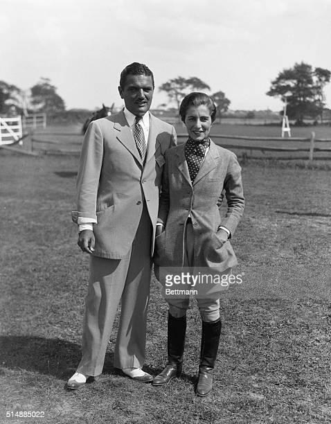 1932Southampton LI NY Mr and Mrs J V Bouvier the Third at a horse show in Southampton LI