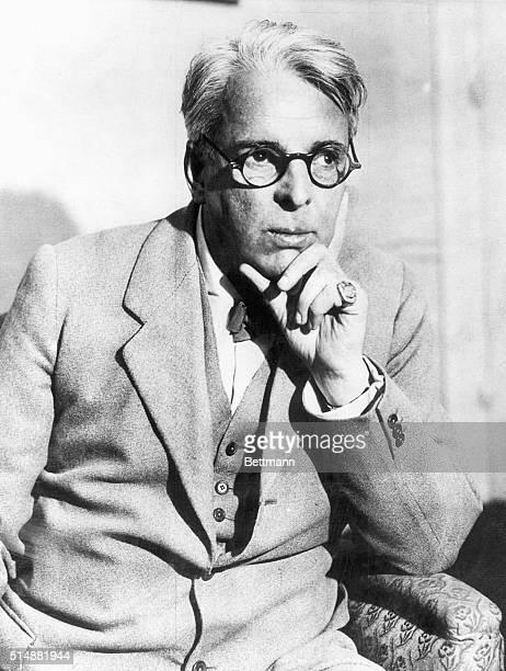 William Bulter Yeats . Irish poet and playwright. Photograph, 1932.