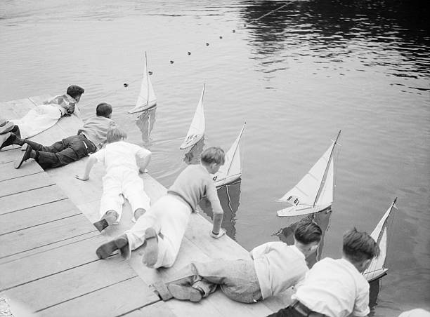 Children with Model Boats