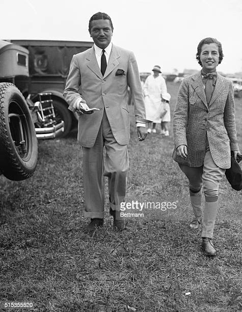 Picture shows Mr and Mrs JV Bouvier 3d at the Westhampton Horse Show She is wearing her riding outfit and he is in a suit