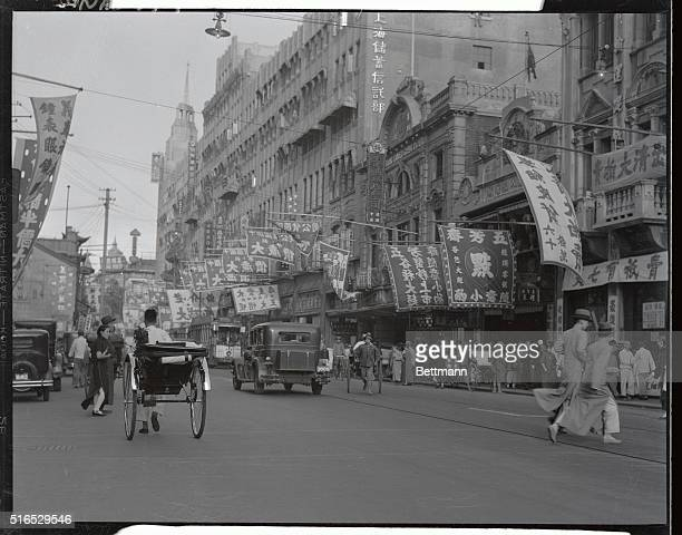 View of a busy Nanking Road.