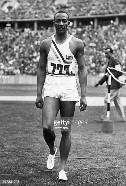 Germany: Jesse Owens , American athlete at the Olympics in Germany. Photo, 1936.