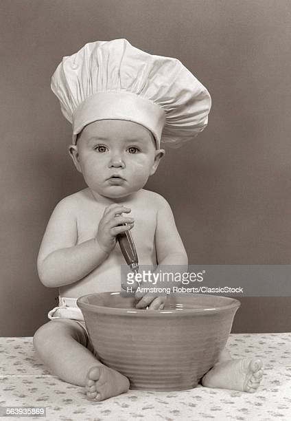 1940s 1950s BABY COOK WITH...