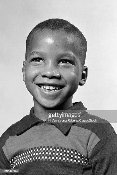 1940s 1950s PORTRAIT SMILING AFRICAN AMERICAN BOY 6 YEARS OLD