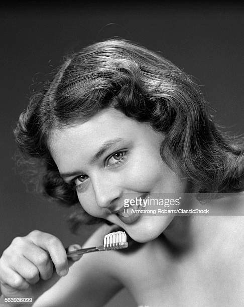 1940s 1950s SMILING WOMAN...