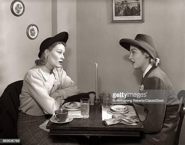 1940s 2 WOMEN DINING...