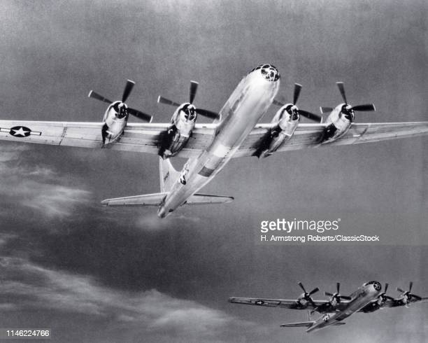 1940s 2 WWII BOMBERS B-29 SUPERFORTRESS