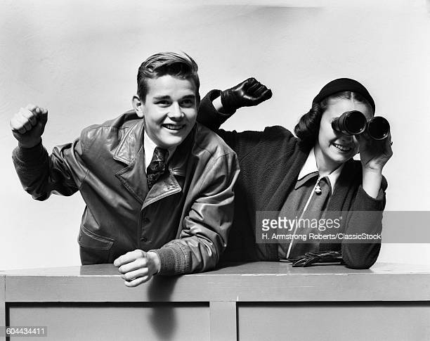 1940s EXCITED CHEERING.