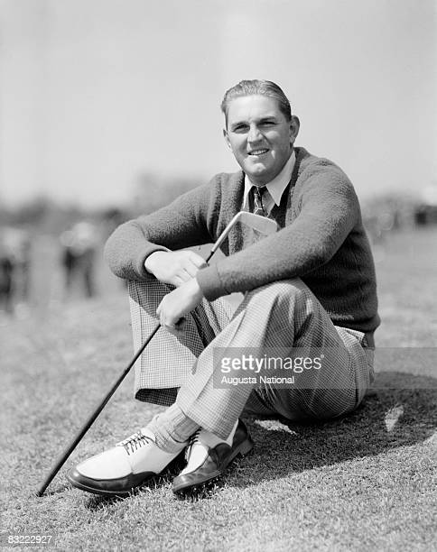 1940s: Jim Ferrier poses for the camera during a 1940s Masters Tournament at Augusta National Golf Club in Augusta, Georgia.
