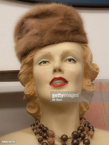 1940s mannequin with hat
