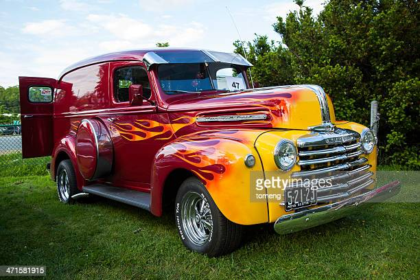 1940s mercury half-ton - hot rod car stock photos and pictures