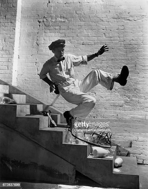 1940s MILKMAN FALLING DOWN...