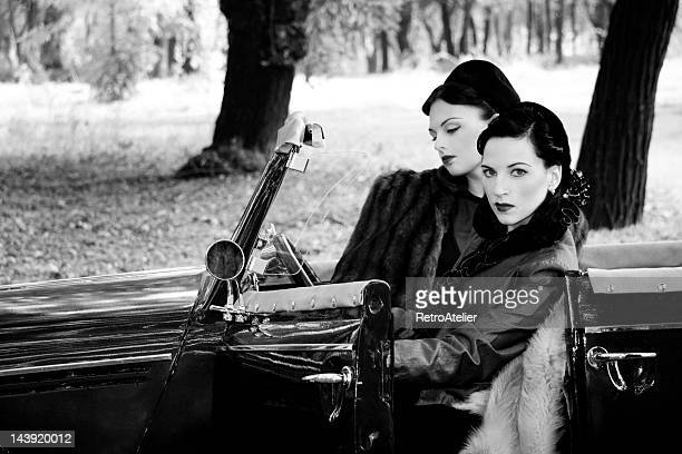 1940s style. a road trip. - 1920 car stock photos and pictures