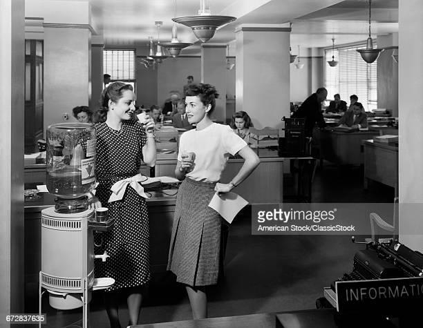 1940s TWO WOMEN OFFICE...