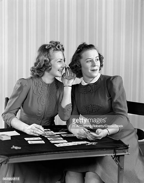 1940s TWO YOUNG WOMEN...