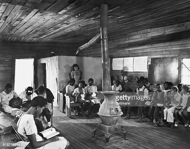 One teacher Negro school in the backwoods of Georgia