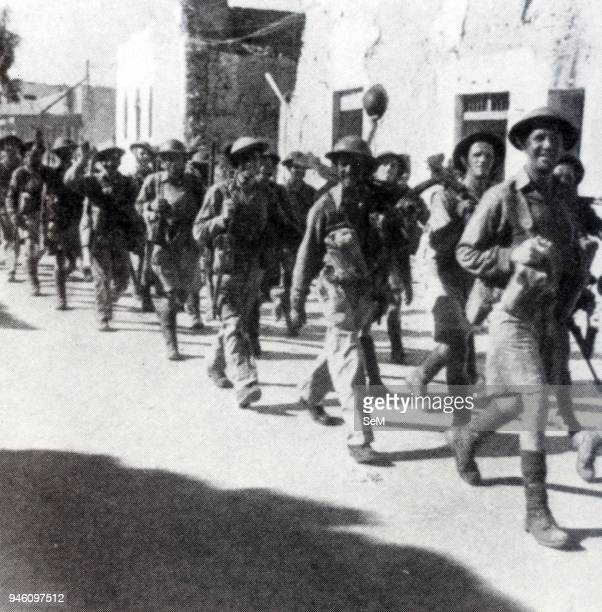 North African CampaignBritish troops to enter Tobruk January 21 1941 In early December British Empire forces an armoured division and two infantry...