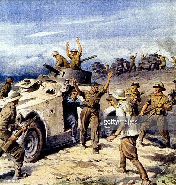 North African CampaignItalian invasion of Egypt 'British armored captured by the Italians' from La Domenica del Corriere 25 August 1940 illustration...