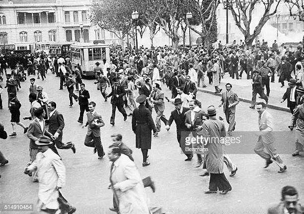 1943Buenos Aires ArgentinaA scene in the Plaza de Mayo after the announcement of the news that President Ramon Castillo had been ousted by an almost...