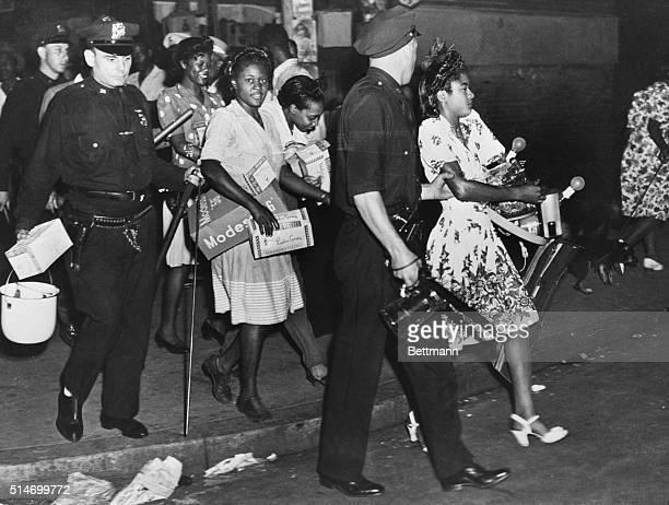 Harlem riots arrests of looters